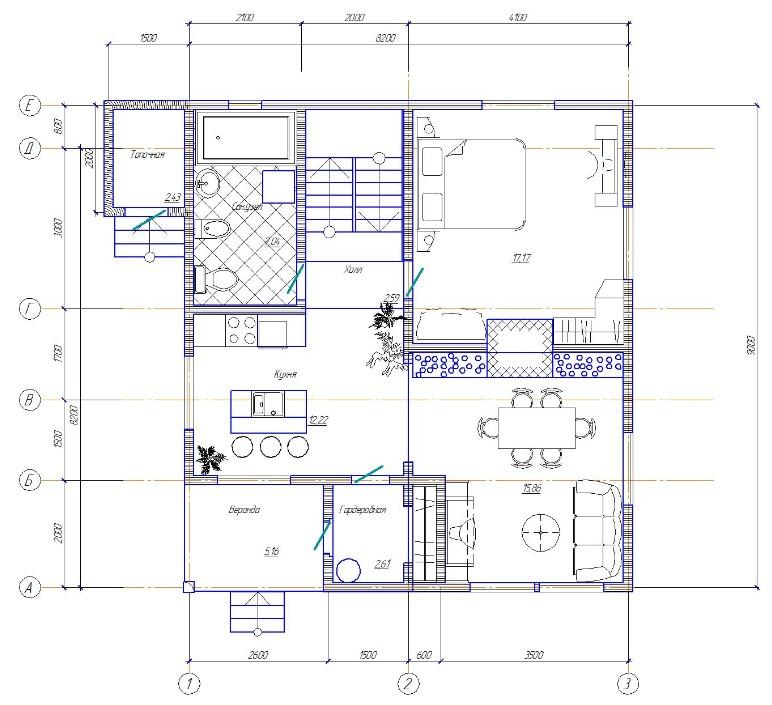 Дом 8x9 Грибной дождик