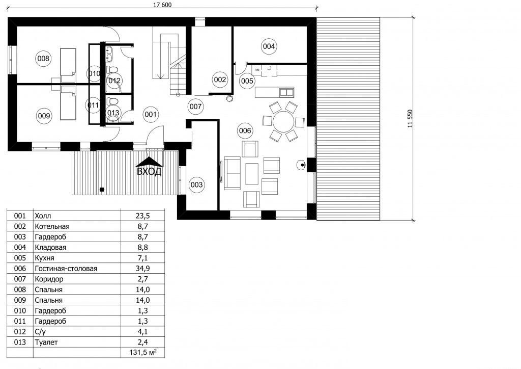 Дом 18х12 Черника