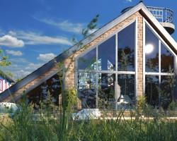 Заказать Гостевой дом Обзорная площадка 10х8 АР проект KUPI-PROJECT