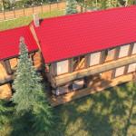 Дом с соснами 300м2