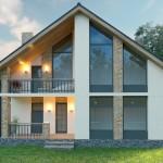 Французский дом архитектурный проект 10х14