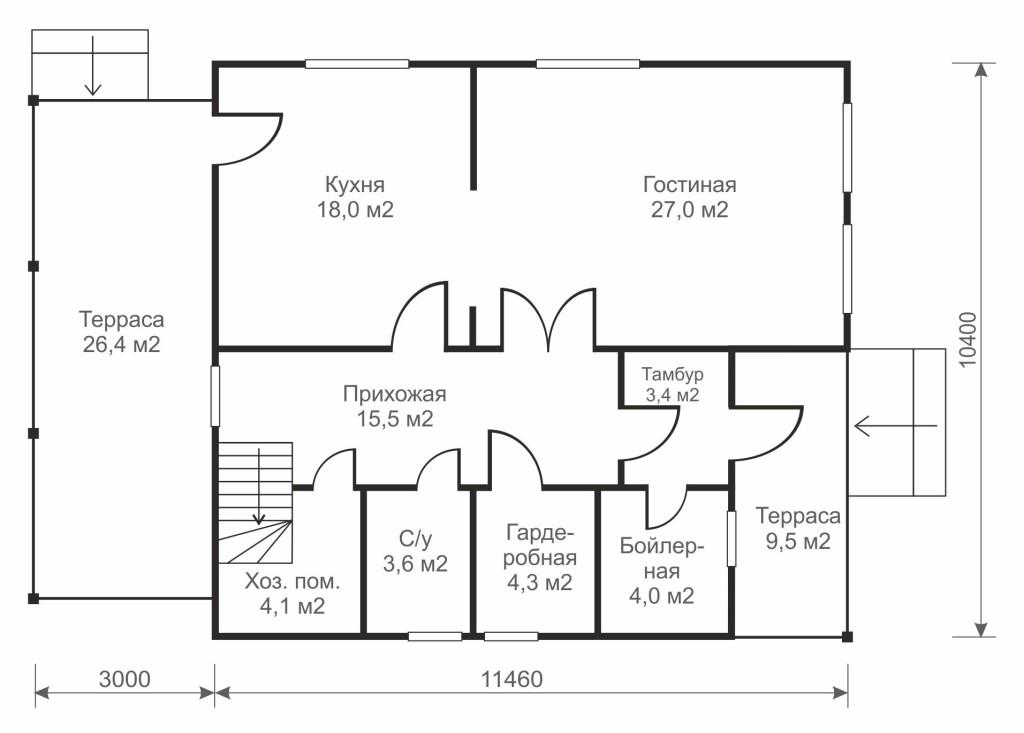 Пуате 2 этаж дома