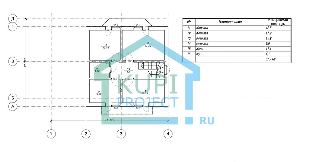 Дом 10х14 Европейский стиль