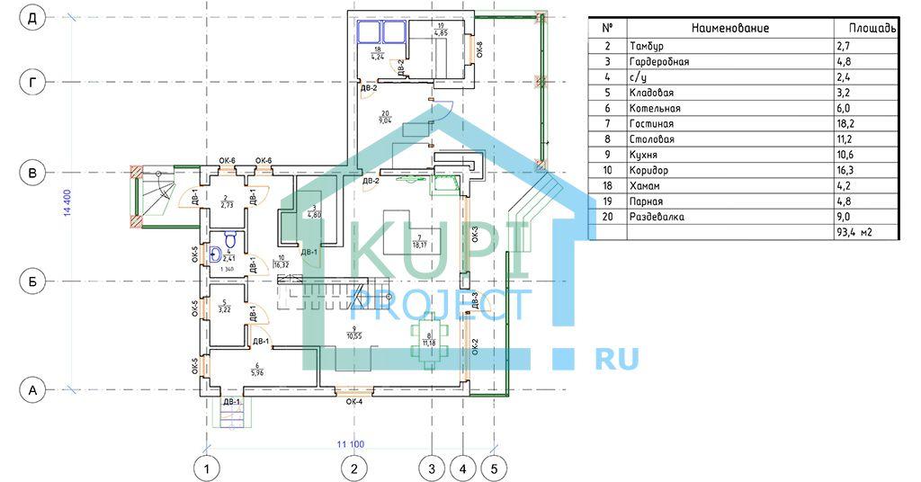 Семейный дом 15х11