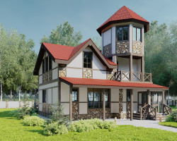 Дом с башней 10х9